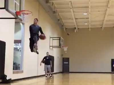If the BYU football team had a slam dunk contest