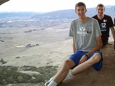 Hamson rockin' a BYU t-shirt on preparation day.  Photo from Alan Hansom's mission blog