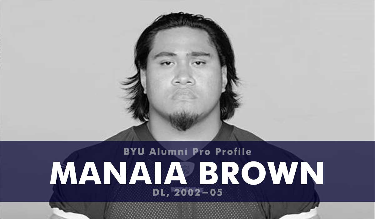 Pro Profile: Manaia Brown (DL, 2002-05)